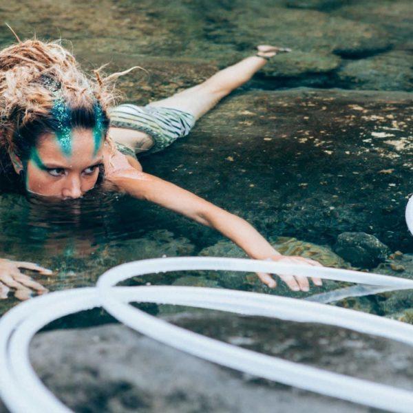 hoola hoop in the water